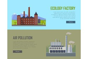 Ecology Factory and Air Pollution Plant Banners.