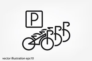 parking bicycle icon