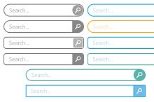 Search bar vector element