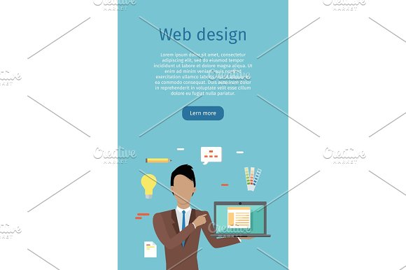 Web Design Vector Web Banner In Flat Style