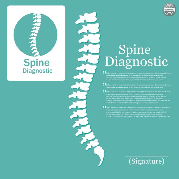 Human Spine Logo Element