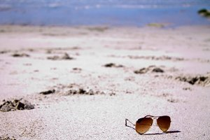 sunglasses on the beach