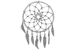 dream catcher on white background