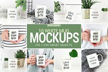 White coffee mug mockup photos