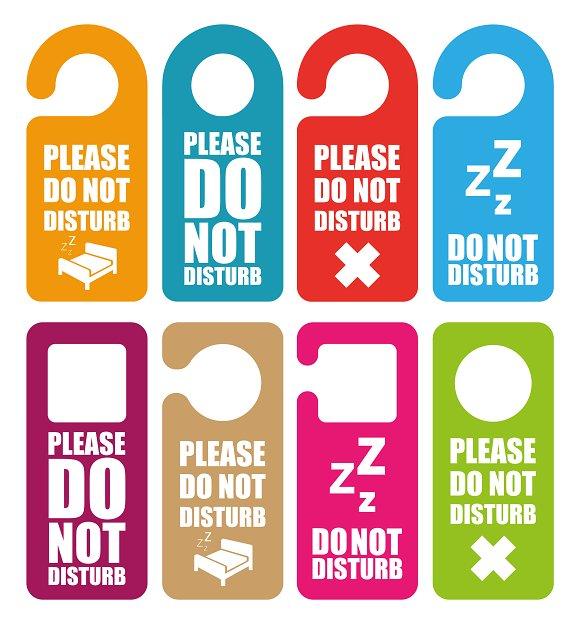 Do Not Disturb Door Hanger Ilrations