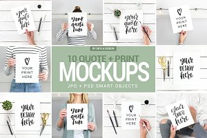 Quote mockups Instagram social media