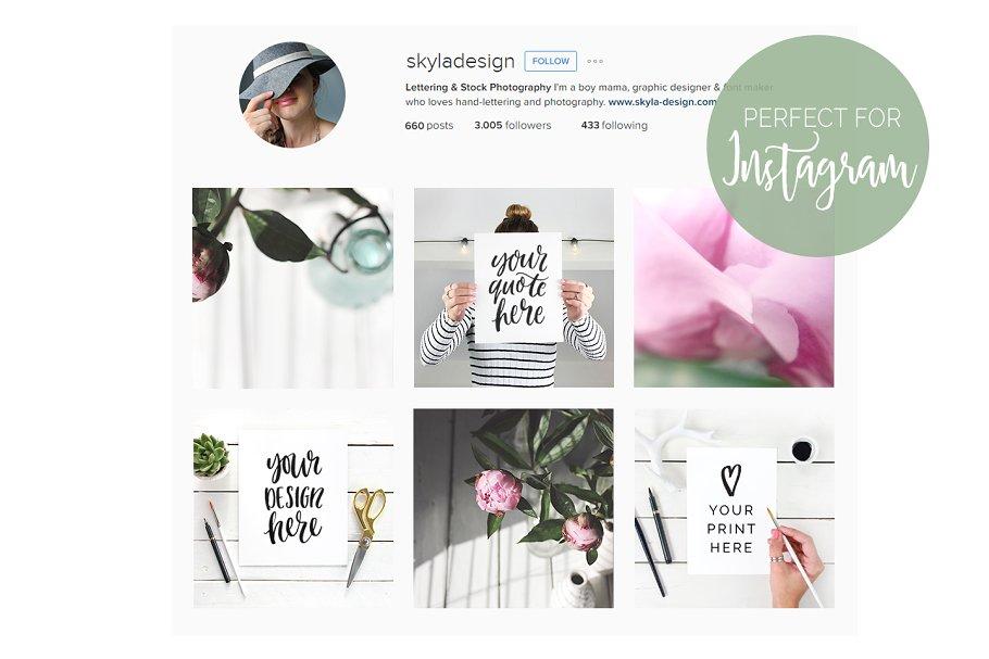 Quote mockups social media Instagram - Social Media Templates ...