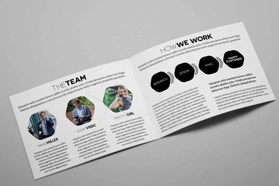 Creative Agency A5 Brochure InDesign in Brochure Templates - product preview 8