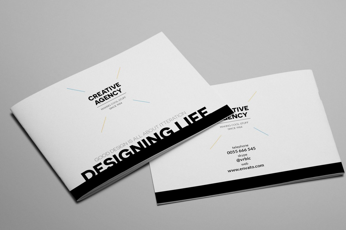 Creative agency a5 brochure indesign brochure templates for Ad agency brochure design