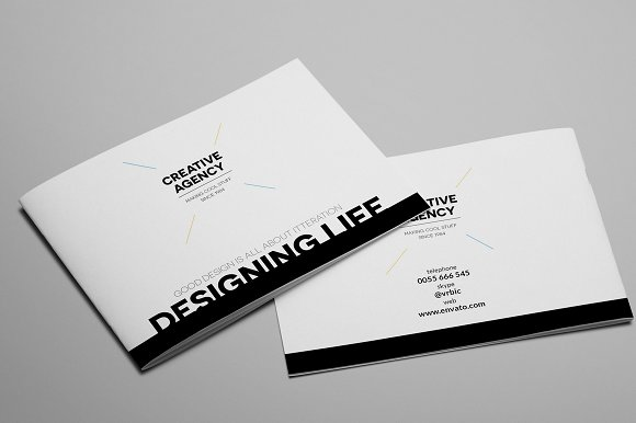 Creative Agency A5 Brochure InDesign in Brochure Templates - product preview 1