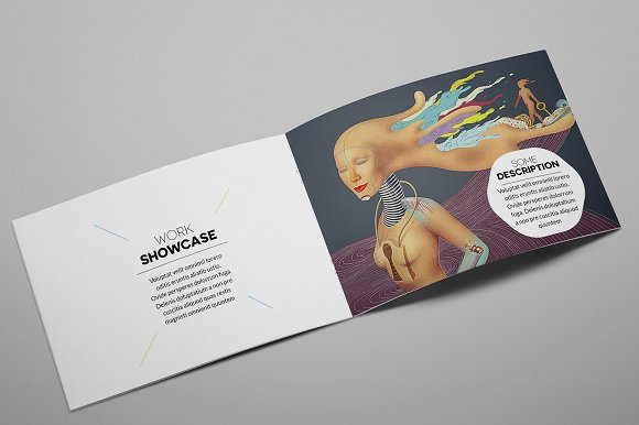 Creative Agency A5 Brochure InDesign in Brochure Templates - product preview 2