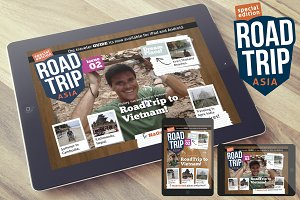 AsiaTrip Magazine Template for iPad