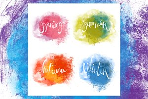 Four seasons | lettering | JPEG