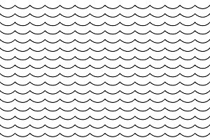 Vector pattern with waves
