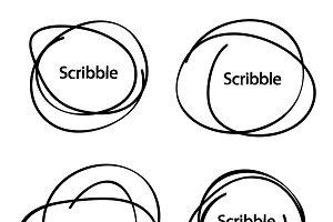 Hand drawn circles. Vector logo