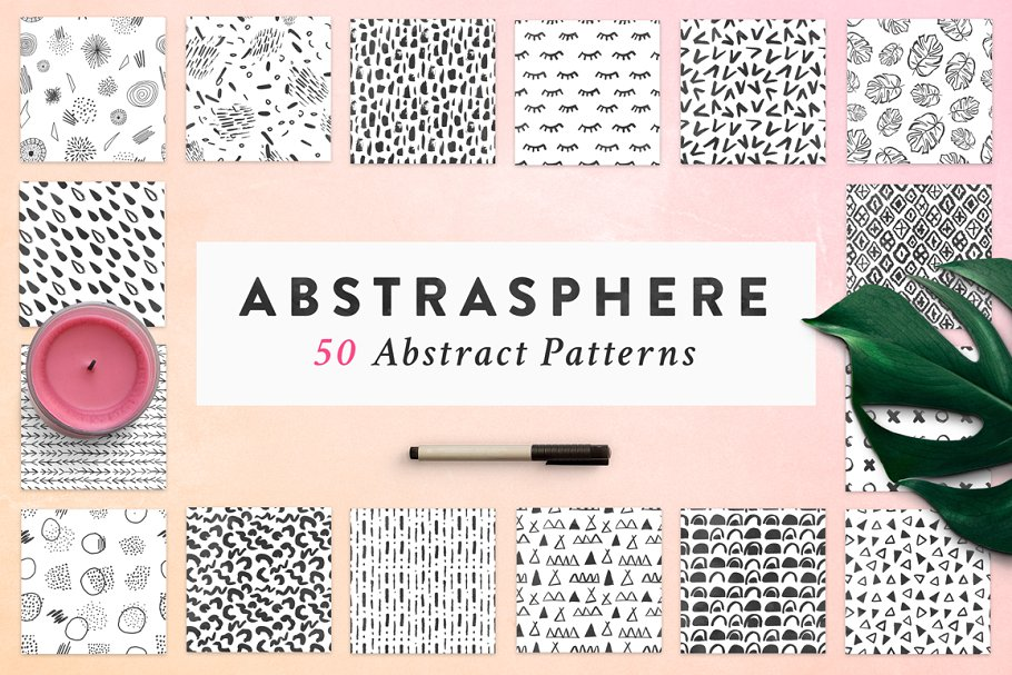 50 Trendy Seamless Patterns
