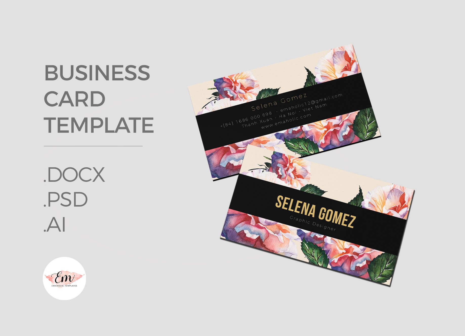 Girly Business Card Template ~ Business Card Templates ~ Creative ...
