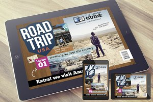 RoadTrip Magazine Template for iPad