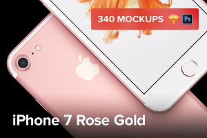 340 iPhone 7 Rose Gold mockups