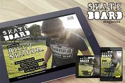Skateboard Magazine iPad Template