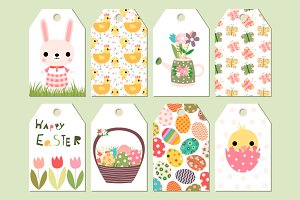 Cute printable Easter gift tags