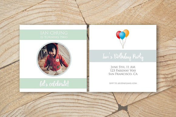 Birthday Card Template in Card Templates