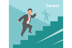 Career. Concept business illustration
