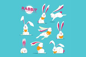 Rabbits - Characters Set