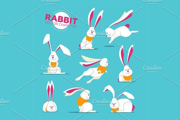 Rabbits Characters Set
