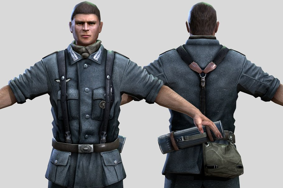 WWII Nazi Soldier ~ People Models ~ Creative Market