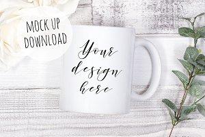 Mug Mockup Photograph Elegant Rustic