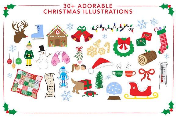 30 Adorable Christmas Illustrations