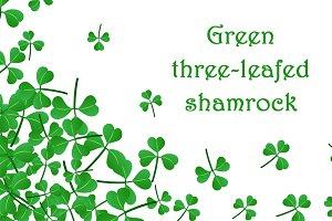 St. Patrick's Day set with shamrock