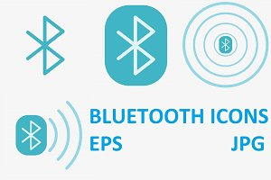 Bluetooth Vector Icons