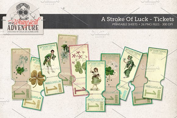 Printable St Patrick's Day Tickets