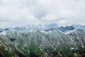 Mountains aerial view scenery.