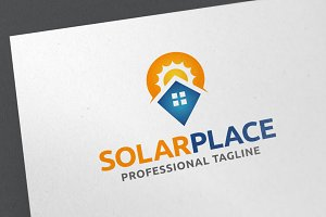 Solar Place Logo Template