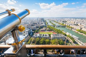 The viewpoint in the Eiffel Tower