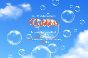 Realistic Bubbles Set