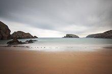 Long exposure photography on a beach