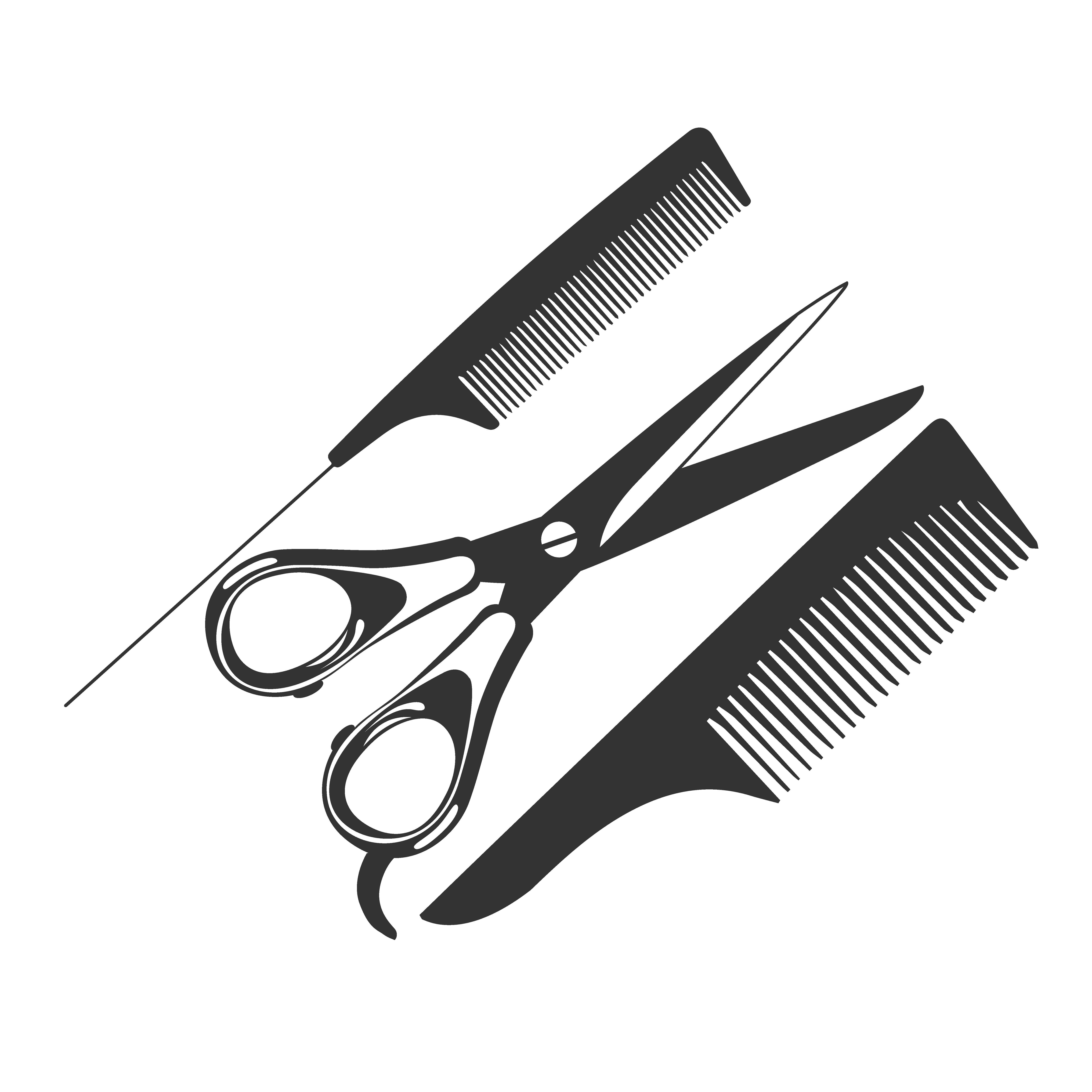 comb scissors barber tools icon illustrations creative market