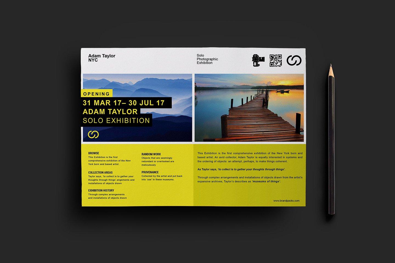photography exhibition flyer v flyer templates on creative market