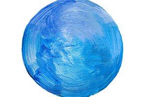 circle acrylic and watercolor