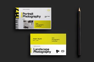 Photography Exhibition Business Card