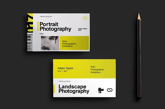 Photography exhibition business card business card templates photography exhibition business card business card templates creative market reheart Images