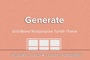 Generate - Simple Grid Tumblr Theme