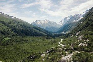 Mountains green landscape.