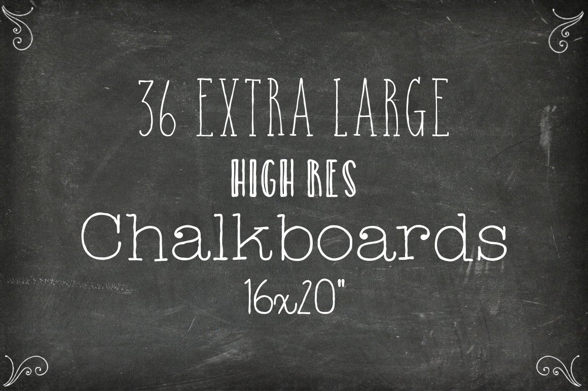 36 Chalkboard Backgrounds XL Edition Textures Creative Market
