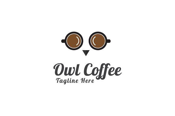 Owl Coffee Logo Template