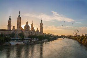nearly evening in zaragoza